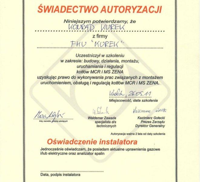 De Dietrich - Certyfikat 2011-2013