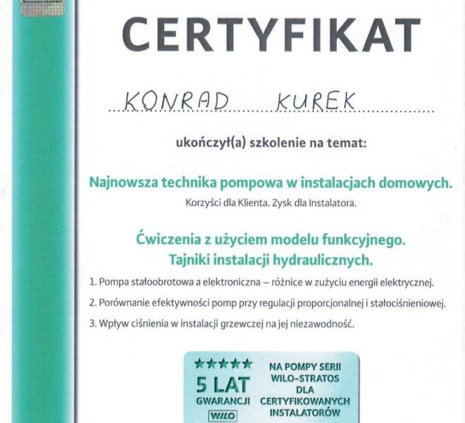 Wilo - Certyfikat 2012