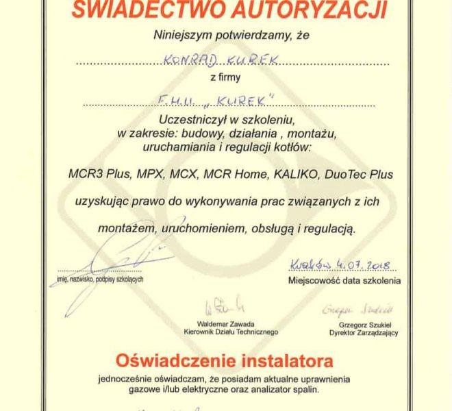 De Dietrich Certyfikat