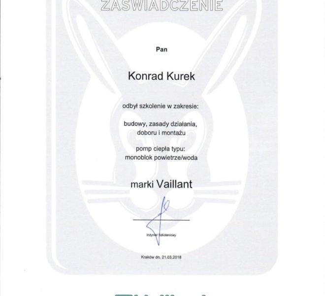 Vaillant - Certyfikat na pompy ciepła